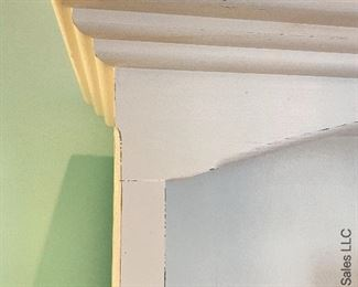 "ITEM 65: White 5 shelf Bookcase, 40""X73""  $195"