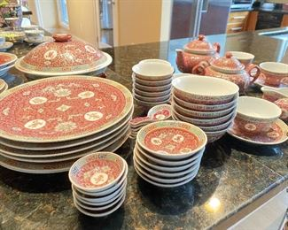 ITEM 66: Dinnerware set, place settings for 6, plus serving pieces $180