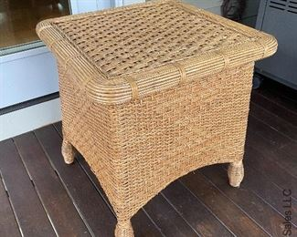 ITEM 77: Square wicker side table  $65