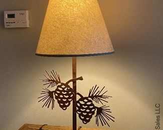 ITEM 80: PAIR metal pinecone lamps   $65