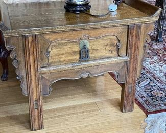 ITEM 87: Antique Chinese table, small, used as side table  $125
