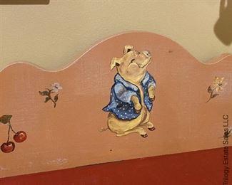 "ITEM 93: Vintage Tracy Porter Stonehouse Farm child's cabinet. 26"" (L)X18 1/2 "" (W) X49"" (H)  $295"