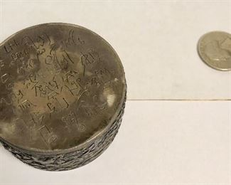 ITEM 102: Four trinket boxes with porcelain shard tops  $60