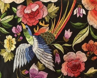ITEM 103: Intricately embroidered silk shawl  $395