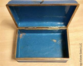 ITEM 108: Cloisonné trinket box  $25
