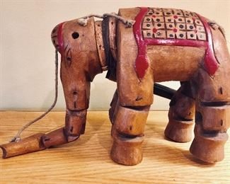 ITEM 110: Chinese wooden elephant marionette  $25