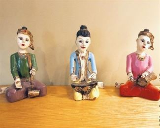 ITEM 112: Group of three musician figures  $36