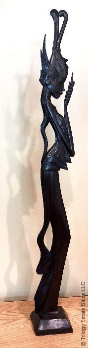 ITEM 129: Thai carved wood figure  $28