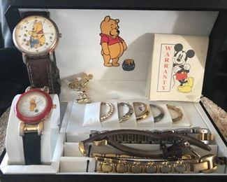 Disney Watch Set and Mickey Pin