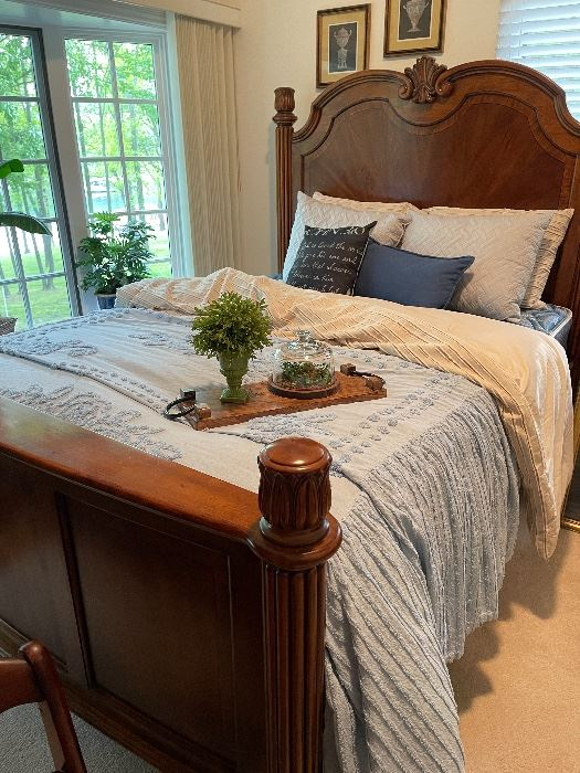 Gorgeous (purchased from Wheelers Furniture in Spfd), solid wood queen size bed.  Excellent condition!