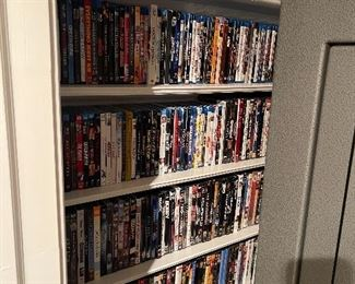 Hundreds of DVD's. Most are blu-ray and ultra HD Blu-ray.