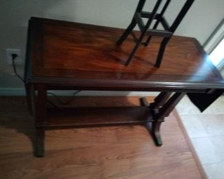 13.nice antique table drop leaf on both ends $75 mahogany