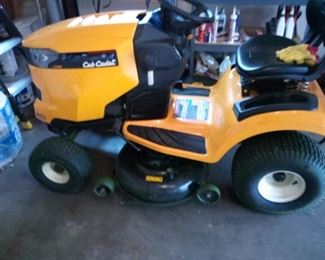 01. CUB CADET RIDING MOWER $1200 like new