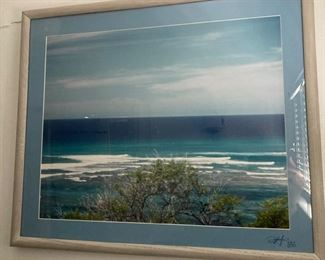 Framed Photograph, Seascape, signed by artist
