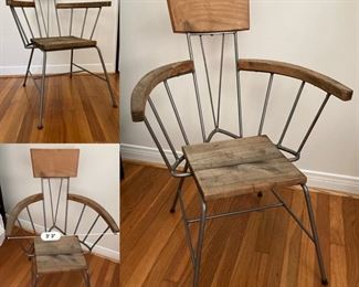 Pair of Industrial-Chic interpretation of a Windsor Chair