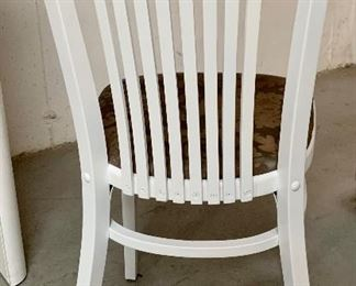 White Upright Chair $20