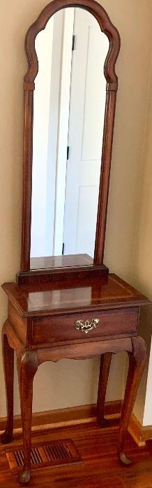 Spoonfoot Cherrywood Hall Tree w/ Drawer 20w x 12d x 71h $115