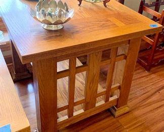 2 Golden Oak, Mission Style End Tables  28 x 24 x 22h $65ea