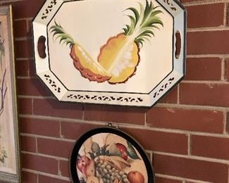 Tole painted tray