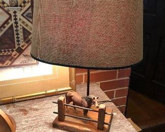 Unique mid century lamp
