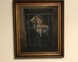 Painting of Charlotte Chorday  painted by a family ancestor
