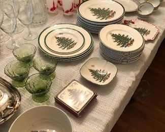 Spode and Cuthbertson Christmas Tree pattern
