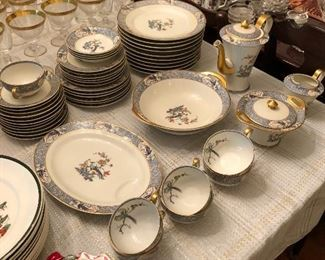"""Theo Haviland Limoges china """"Rajah"""" pattern"""