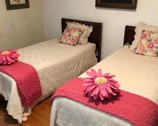 Mid Century traditional twin beds