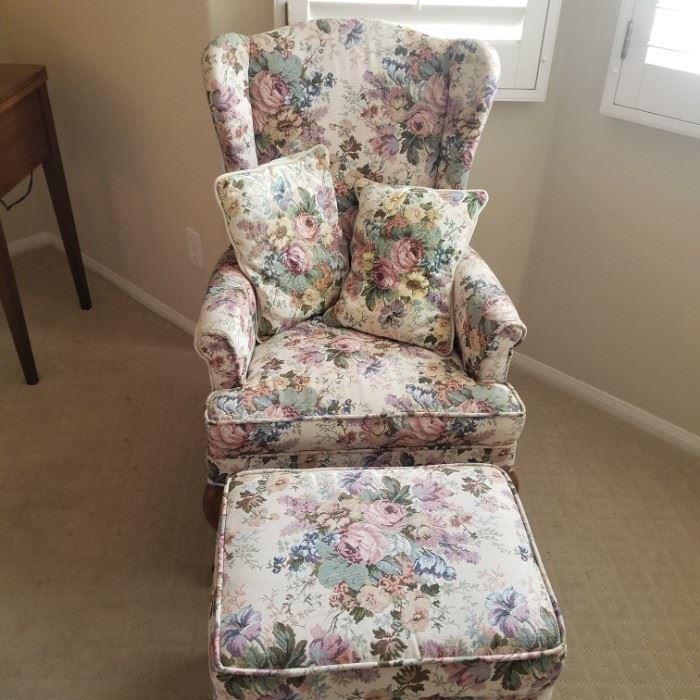 Chair w/ottoman $65