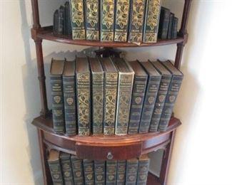 WONDERFUL CORNER BOOKSHELF & OLD BOOKS