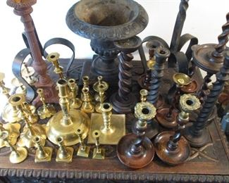 EARLY 19TH CENTURY CANDLESTICK COLLECTION