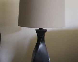 2- Lamps $40 each   H-27   Diameter  14 (shade)