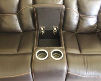 Hidden Armrest Compartment