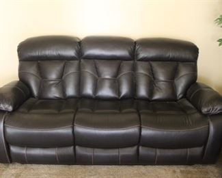 Leather Sofa Both Ends Recline $750   W-7ft   D-38