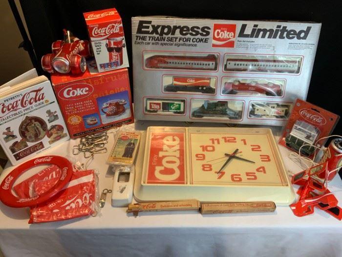 CocaCola Train  Clock