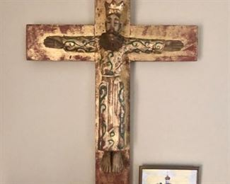 Vintage hand carved Cross