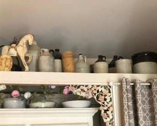 Collection of stoneware jugs
