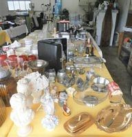 STATUES, GOLD WARE, PEWTER, SILVER PLATE