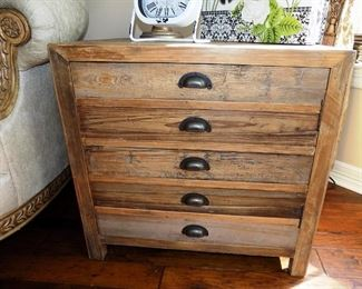 Wood Storage Cabinet/End Table $150