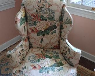 Wingback chair have two