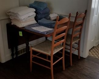 Chairs and towels