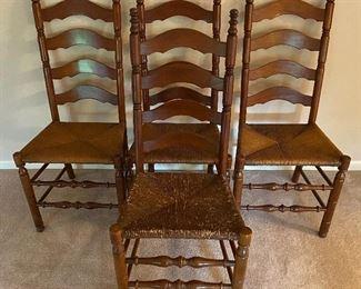 Vintage Set of 4 Ladderback Chairs