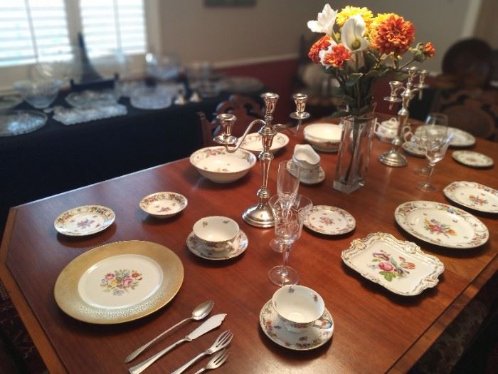 """Beautiful fine china by Dresden Style """"Royal"""" & Schumann/German express"""