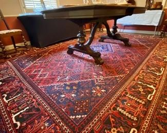 Beautiful Rug for sale.  (Dining table not for sale)
