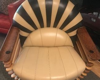"Custom made ""Luxe"" leather chair made in Texas"