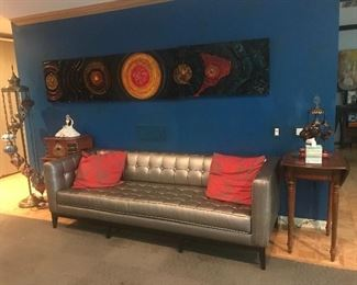 Custom made Grey couch but does have issues on then ends due to cats