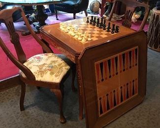 Game table with additional game is part of table