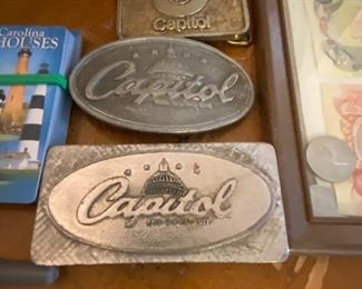 Vintage Capitol Records Belt Buckles
