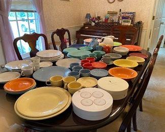 Several Pieces of Fiestaware