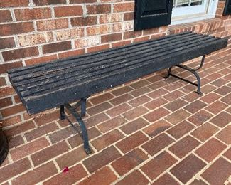 Outdoor Slat Bench